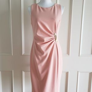 DKNY Peach Rouched Dress NWOT
